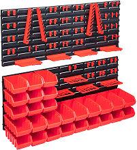 Betterlifegb - 103 Piece Storage Bin Kit with Wall