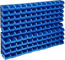 Betterlifegb - 128 Piece Storage Bin Kit with Wall