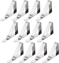 Betterlifegb - 12PC Pack of Silver Table Cloth