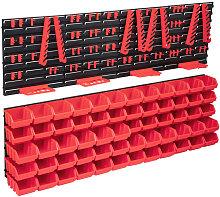 Betterlifegb - 136 Piece Storage Bin Kit with Wall