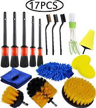 Betterlifegb - 17 Pcs Car Detailing Brushes Kit