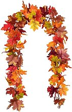 Betterlifegb - 2 pieces artificial leaves autumn