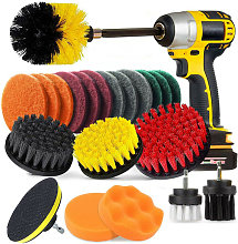 Betterlifegb - 22 Pieces Cleaning Brush for Drill,