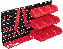 Betterlifegb - 34 Piece Storage Bin Kit with Wall