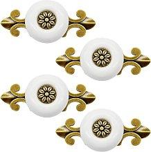 Betterlifegb - 4 Pieces White Ceramic Handle