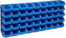 Betterlifegb - 48 Piece Storage Bin Kit with Wall