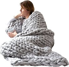 Betterlifegb - 80 * 100cm Knitted Cover Hand Woven