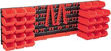 Betterlifegb - 80 Piece Storage Bin Kit with Wall