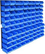 Betterlifegb - 96 Piece Storage Bin Kit with Wall