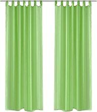 Betterlifegb - Apple Green Sheer Curtain 140 x 175