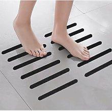 Betterlifegb - BetterLife Black Color Transparent Bathroom Non-slip sticker Bathtub Non-slip Stairway Transparent PEVA Non-slip tape