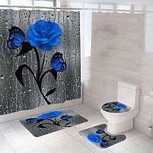 Betterlifegb - Blue Pink Blue Shower Curtain Stick
