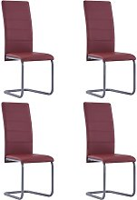 Betterlifegb - Cantilever Dining Chairs 4 pcs Red