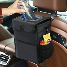 Betterlifegb - Car Trash Can with Lid Portable