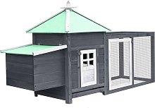 Betterlifegb - Chicken Coop with Nest Box Grey