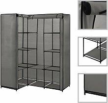 Betterlifegb - Corner Wardrobe Grey 130x87x169
