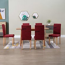 Betterlifegb - Dining Chairs 6 pcs Wine Red