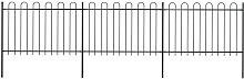 Betterlifegb - Garden Fence with Hoop Top Steel