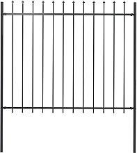 Betterlifegb - Garden Fence with Spear Top Steel