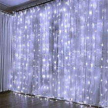 Betterlifegb - Garland Light Curtain 300 LED Light