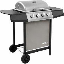 Betterlifegb - Gas BBQ Grill with 4 Burners Black
