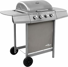 Betterlifegb - Gas BBQ Grill with 4 Burners Silver