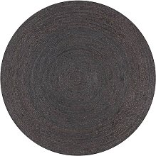 Betterlifegb - Handmade Rug Jute Round 150 cm Dark
