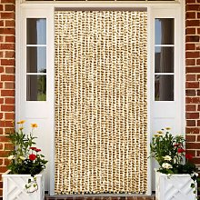 Betterlifegb - Insect Curtain Beige and Brown