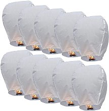 Betterlifegb - Lantern - Chinese Lantern Flying Lantern Paper Ideal for Romantic Evening, Valentine's Day and Outdoor Wedding