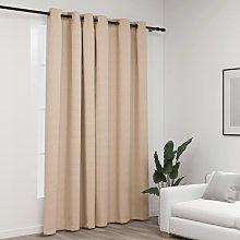 Betterlifegb - Linen-Look Blackout Curtain with