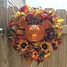 Betterlifegb - Mickey Pumpkin Wreath Decor, Fall