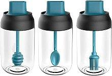 Betterlifegb - Spice Jar, Set of 3 Glass Spice