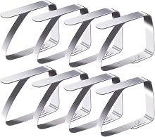Betterlifegb - Tablecloth Clips 8 Pack Stainless
