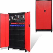 Betterlifegb - Tool Cabinet with 2 Doors Steel