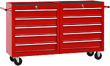 Betterlifegb - Tool Trolley with 10 Drawers Steel