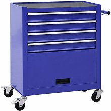 Betterlifegb - Tool Trolley with 4 Drawers Steel