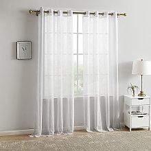 Betterlifegb - White outdoor curtain 140x220cm