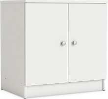 Bettina Bathroom Vanity Cabinet In White With 2