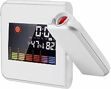 BEUHOME Digital Projection Alarm Clock with LED
