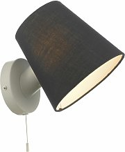 Beula White with Navy Shade Pull Cord Wall Light