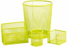 Bever 4 Piece Desk Organiser Set Rebrilliant