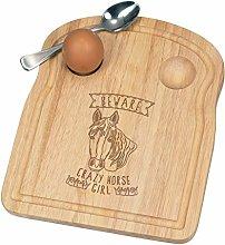 Beware Crazy Horse Girl Breakfast Dippy Egg Cup
