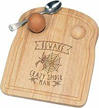 Beware Crazy Spider Man Breakfast Dippy Egg Cup