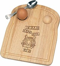Beware Crazy Tiger Lady Breakfast Dippy Egg Cup