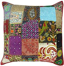 BeyondLiving Cotton Patchwork Cushion Cover Indian