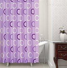 beytug Beautiful lilac pattern shower curtain