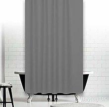 beytug Extra Long Grey Fabric Shower Curtain Wide