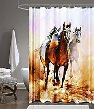 beytug Funky Polyester Waterproof Shower Curtain