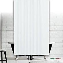 beytug Plain white fabric shower curtain 200CM