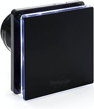 Bf10Bk Black Glass Bathroom Extractor Fan With